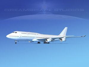 boeing 747 747-8 747-8i 3d 3ds
