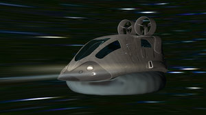 3d space hovercraft model