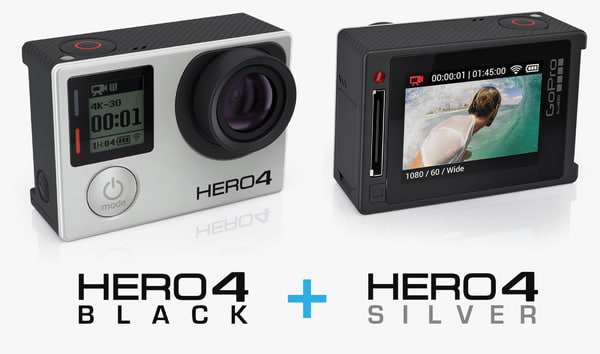 3ds camera gopro hero4 silver