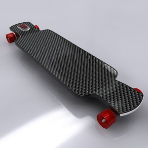 3d longboard skateboard board model