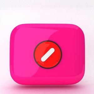 icon slash 3d model