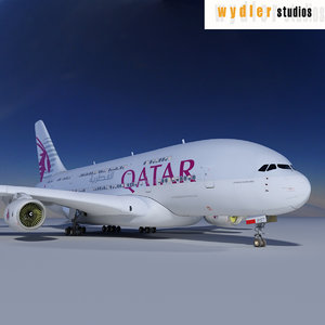a380 qatar airways 3ds