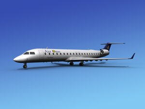 3d model of crj700 bombardier