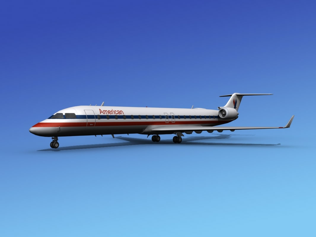 crj700 bombardier airlines 3ds