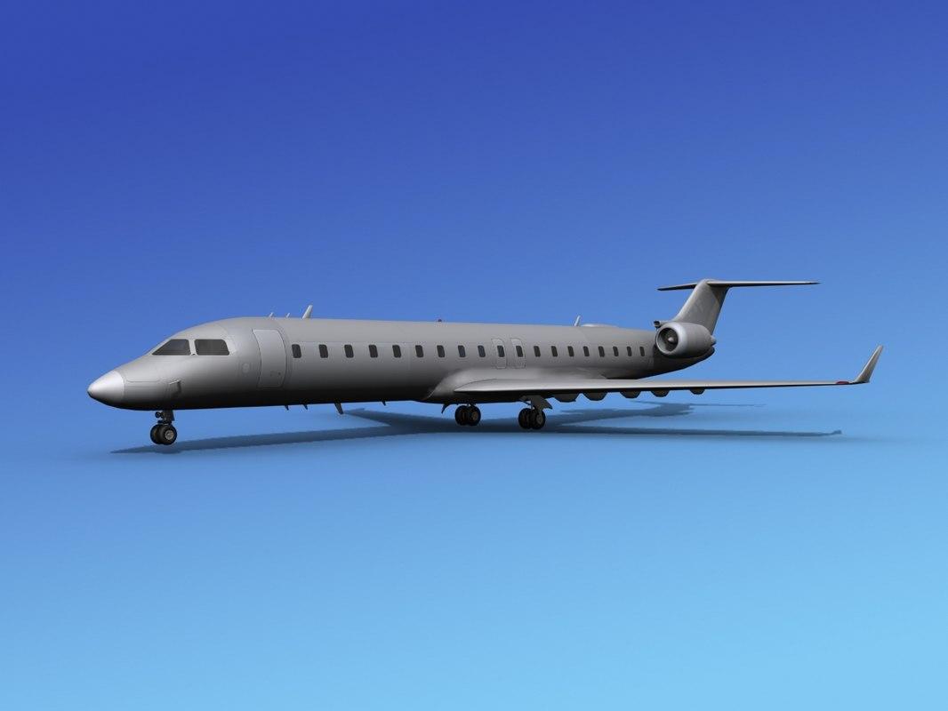 3d crj700 bombardier model