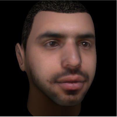 human head 3d max