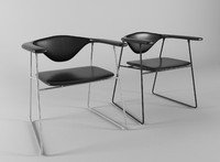 masculo chair gubi black leather 3d 3ds