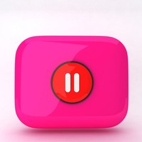 3d model icon pause