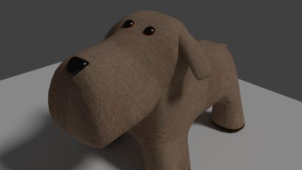 3d model fabric dog toy