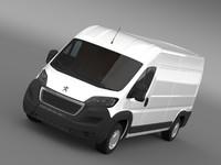 3d peugeot manager furgon l3h2 model