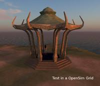 3d fantasy pavillon model