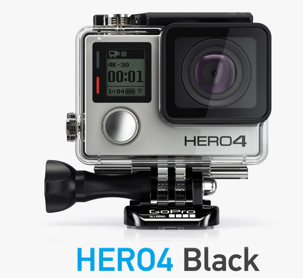 3d model camera gopro hero4 black