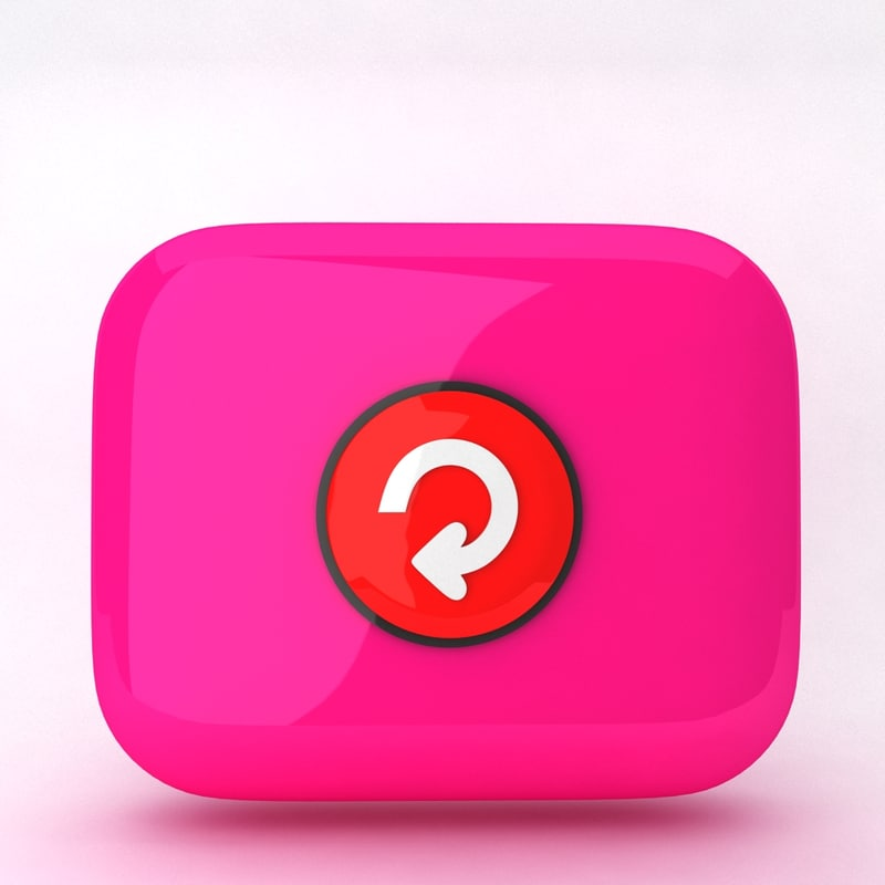 icon refresh 3d obj