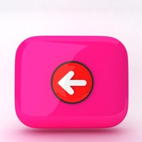3d model icon arrow backward