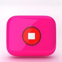 icon stop 3d model