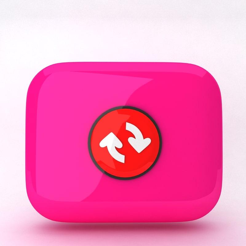 icon reload 3d model