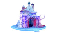 Christmas fairy-tale castle