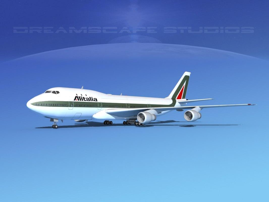747-100 boeing 747 3d model