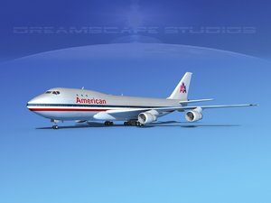3d 747-100 airline boeing 747