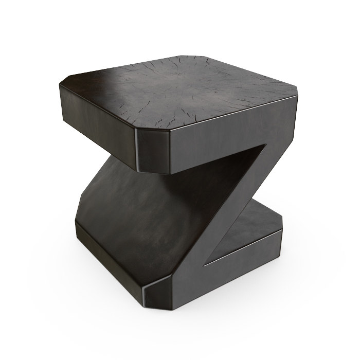 3d model hudson zquare end table