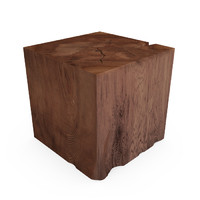 HUDSON ORGANIC TEAK CUBE END TABLE