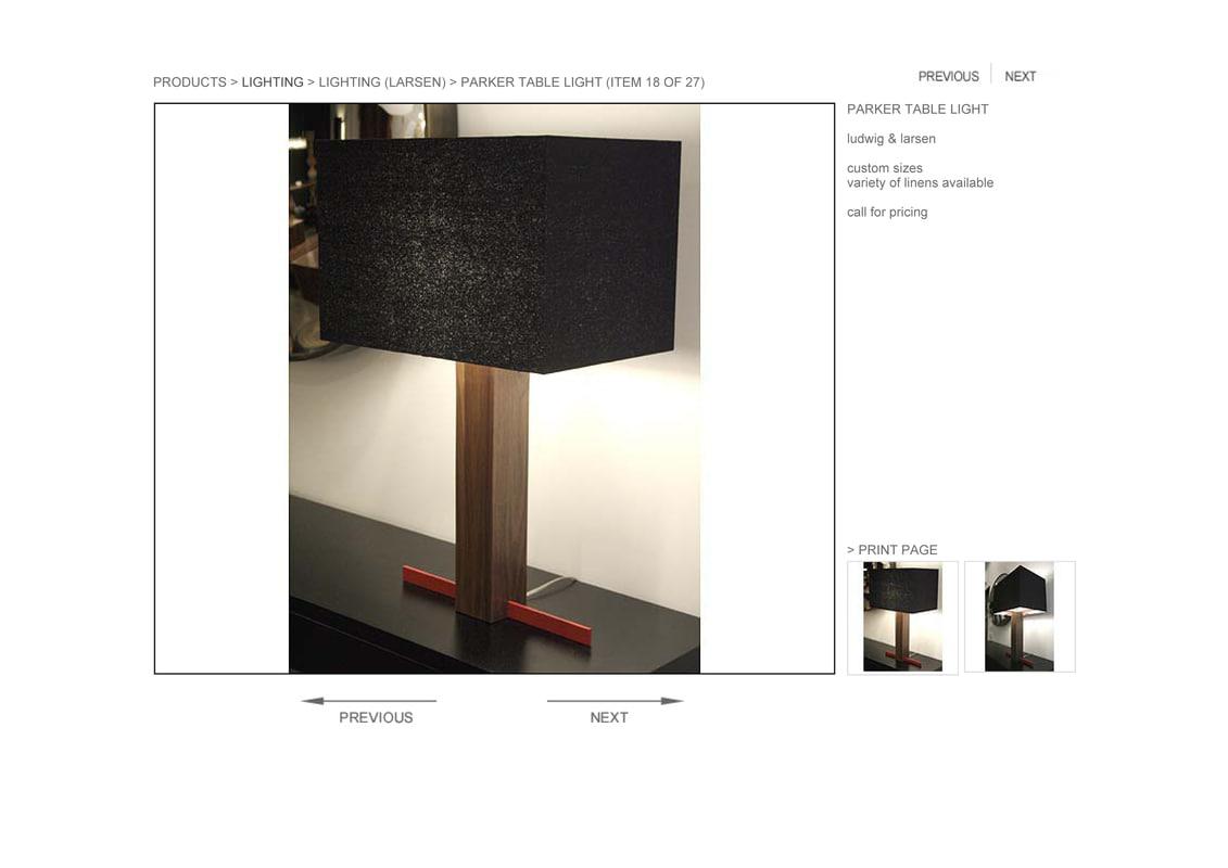 hudson parker table light 3d obj