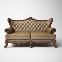 3d sofa classic european