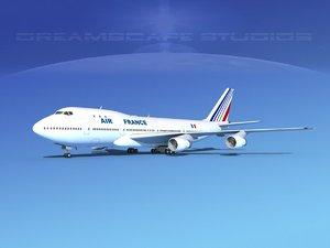 3d model of 747-100 boeing 747