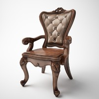 single classic leather armchair
