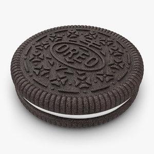 realistic oreo cookie obj