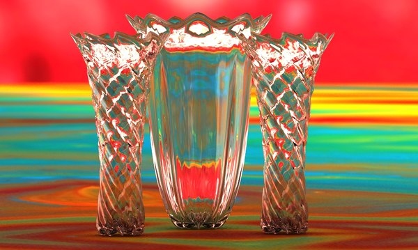 3d flowing glass vases 2014