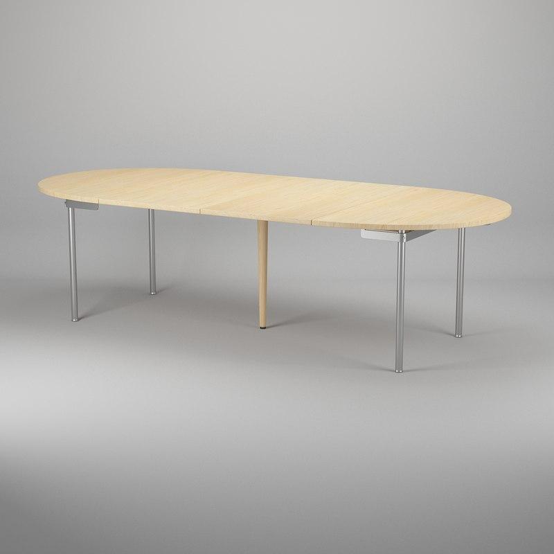 table hans j wegner 3d model
