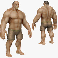 Muscular Man 2 Zbrush Sculpt  (UVed)