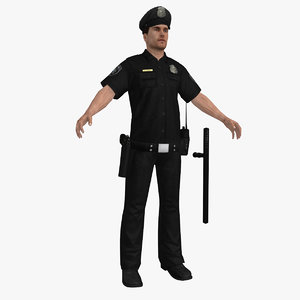 police officer obj