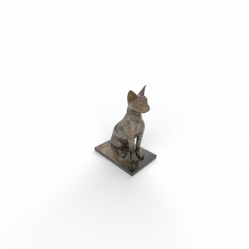 3d decorative dog sculpture model
