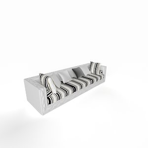 3d model of classic sofa