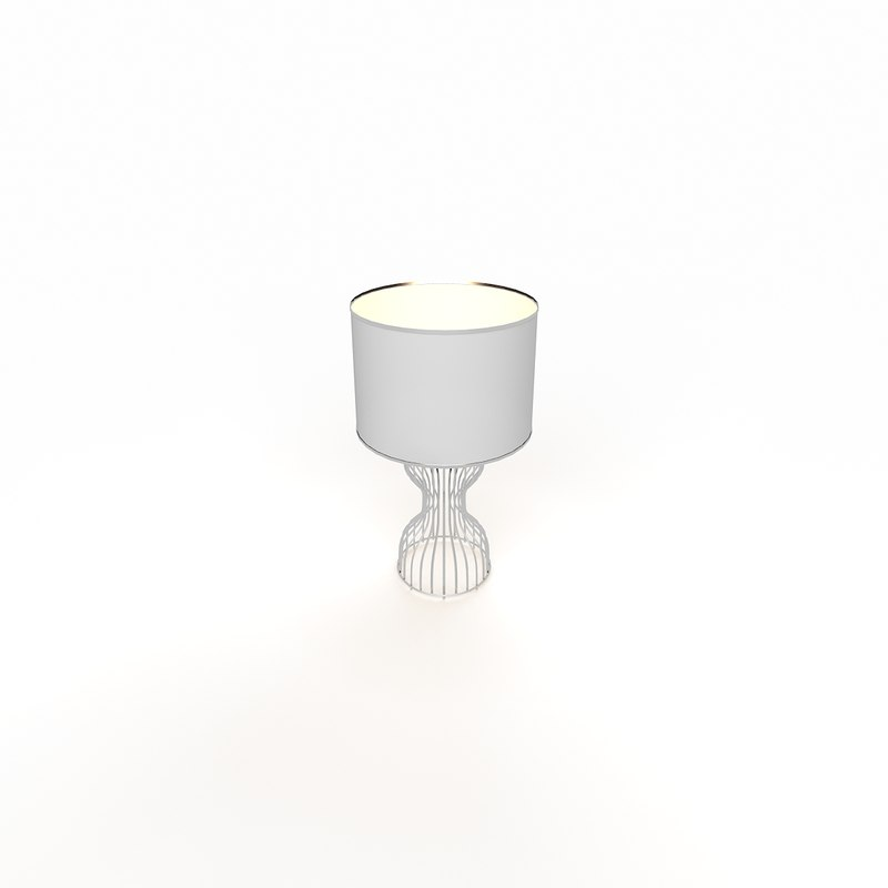 3ds max modern table lamp