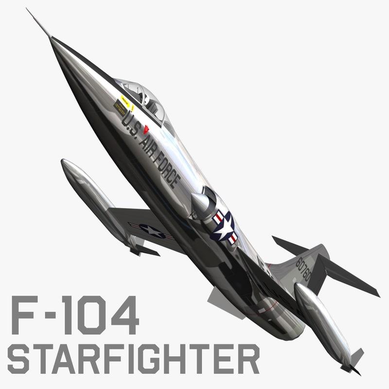 f104 starfighter fighter 3d model