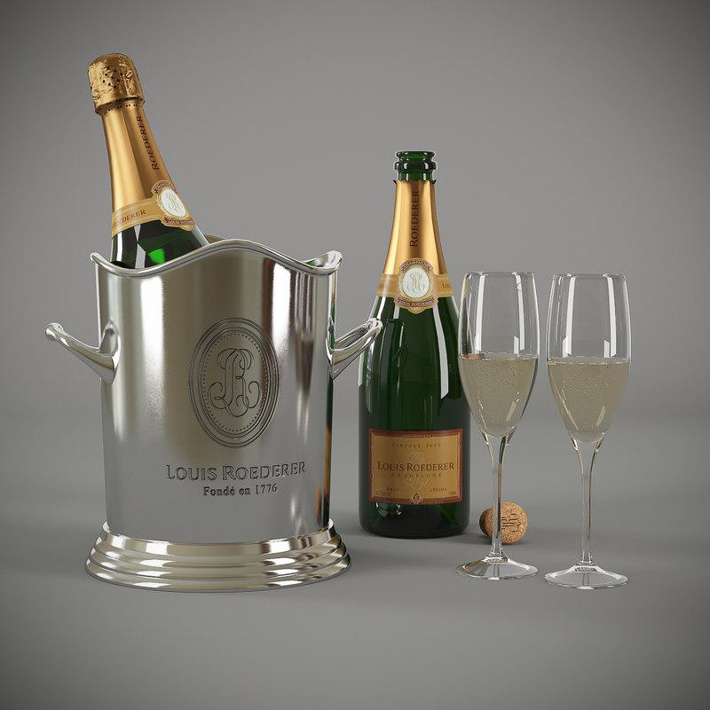 3d louis roederer champagne bucket
