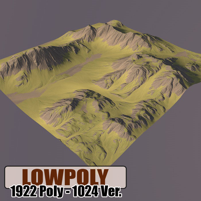 3d model mountain games maps