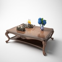 classic square tea table