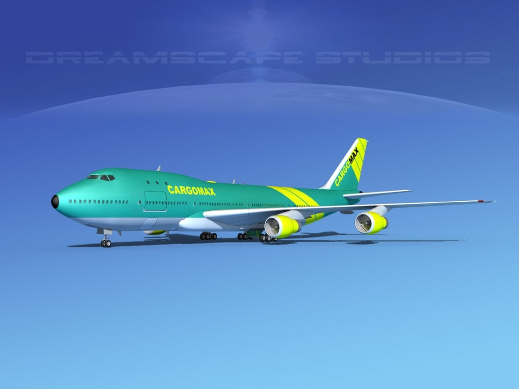 3d model 747-100 boeing 747