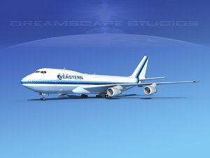 747-100 airline boeing 747 dxf