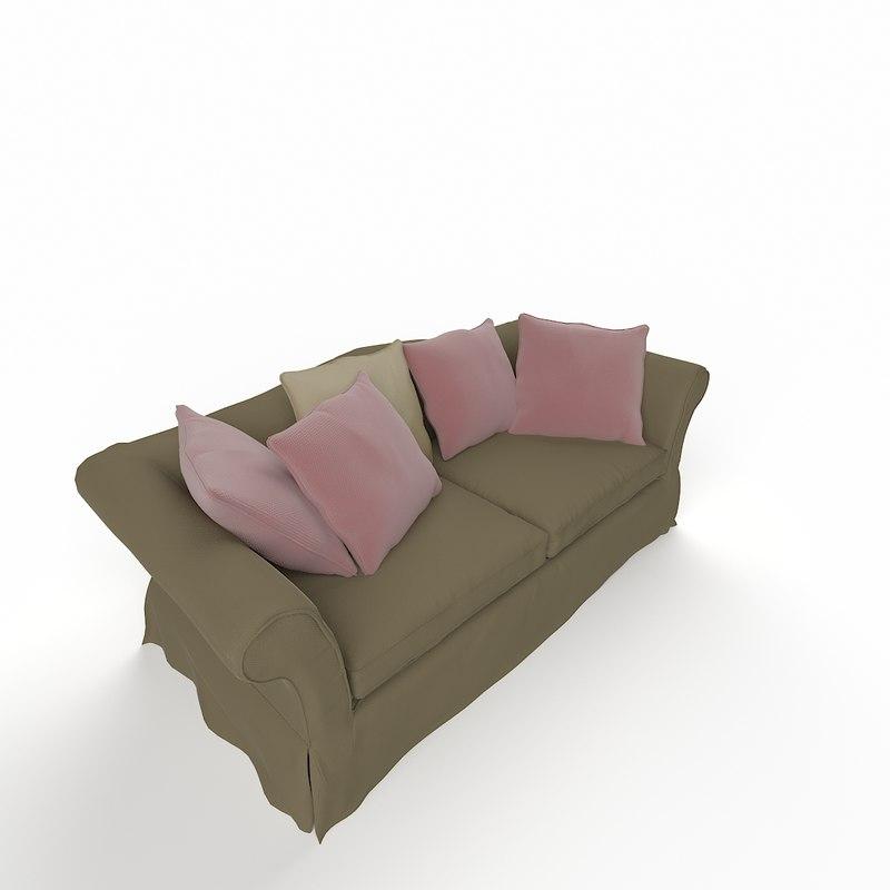 3ds max classic sofa double