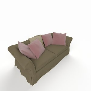 3ds max classic sofa double