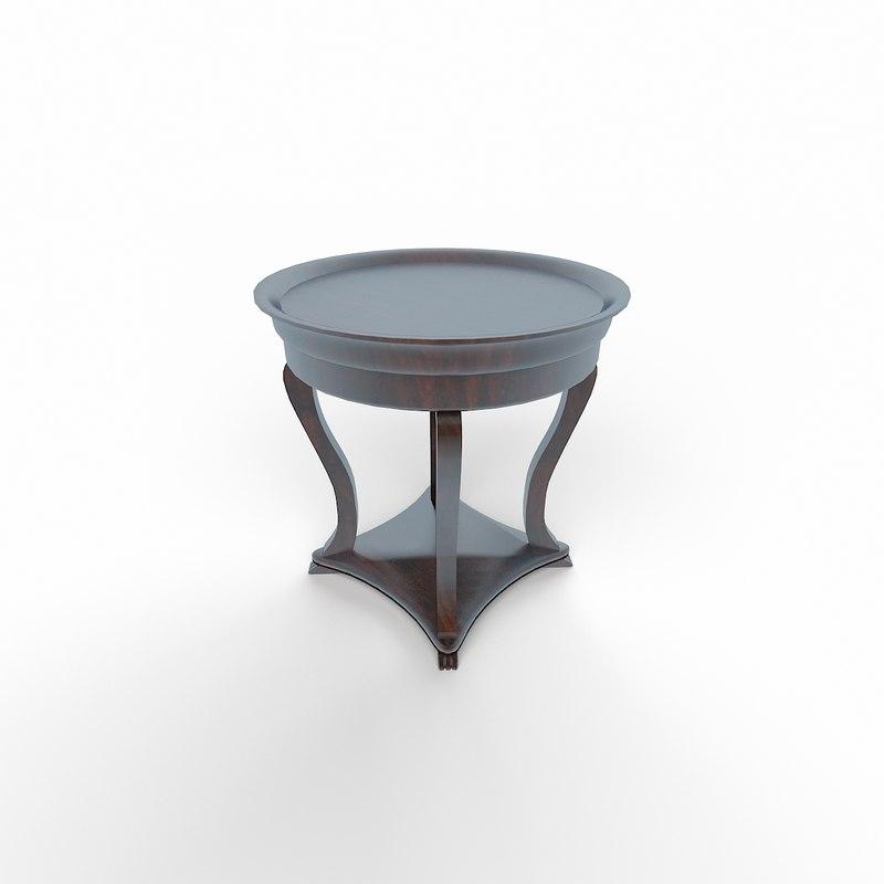 3d classic table tea model