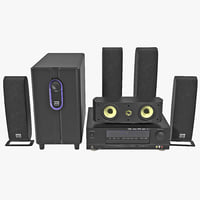 3d model surround home theater sls
