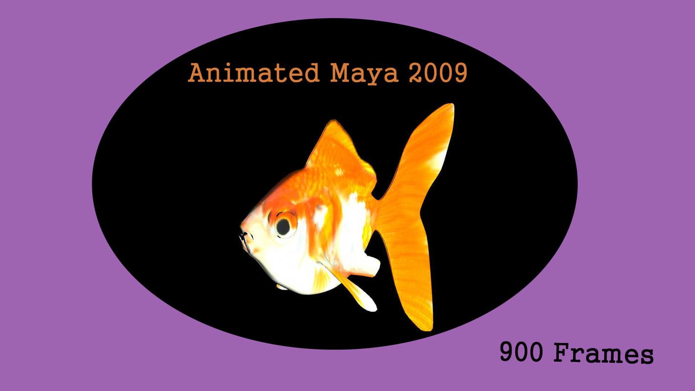 3d model of gold fish