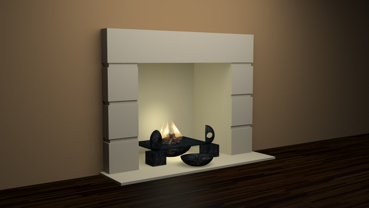 fireplace collections 5 3d obj