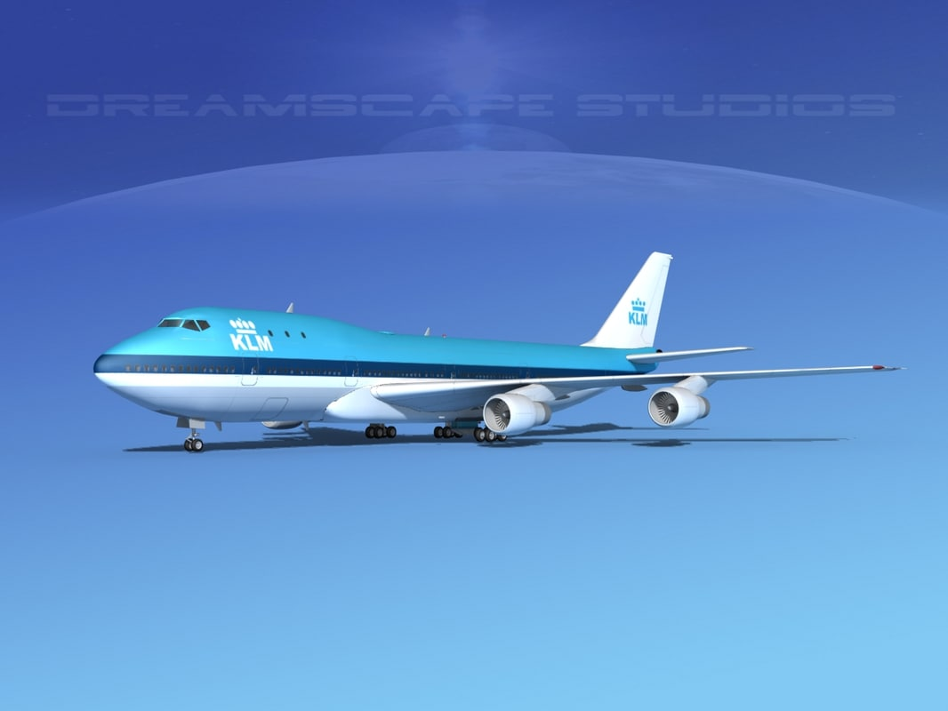 3d model 747-100 airline boeing 747